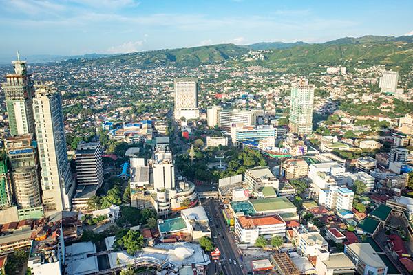 A cityscape view of Cebu, Philippines.