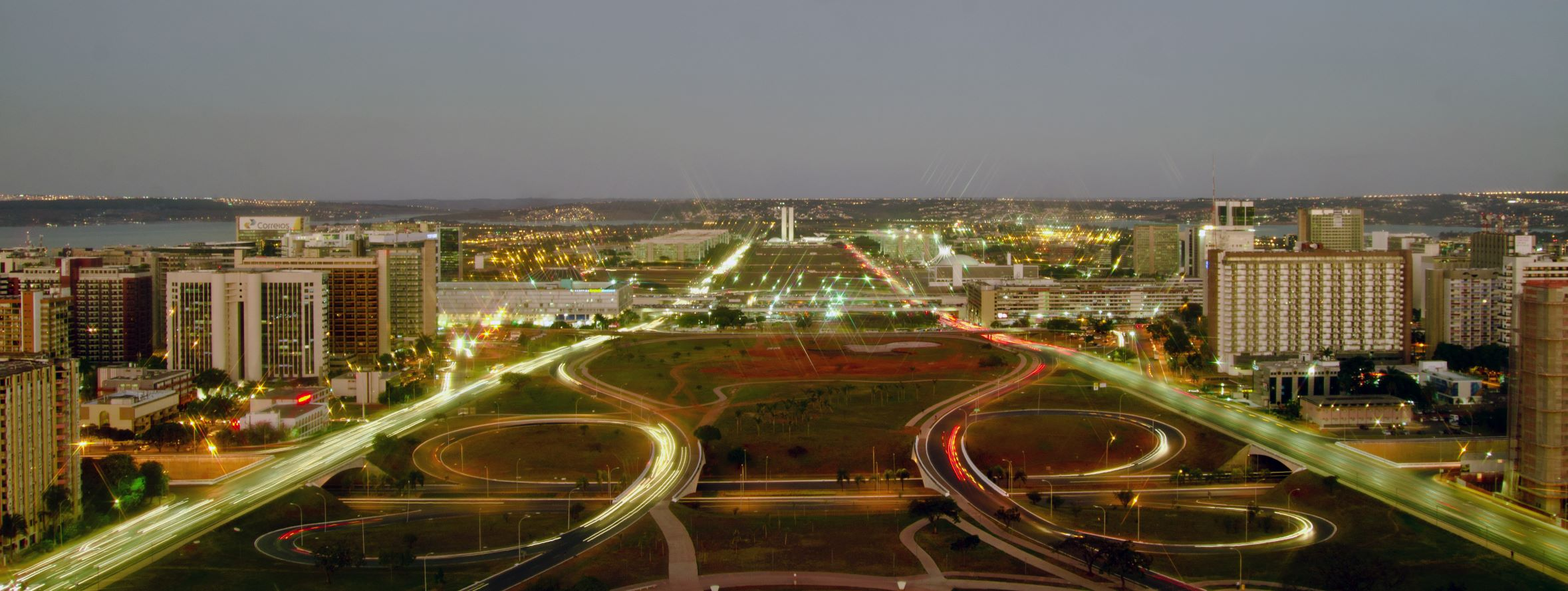 Photo of Brasilia at night. USTDA awarded a grant to the Brazilian Association of Electricity Distributors (ABRADEE) for technical assistance to enable large-scale smart grid deployment throughout Brazil.