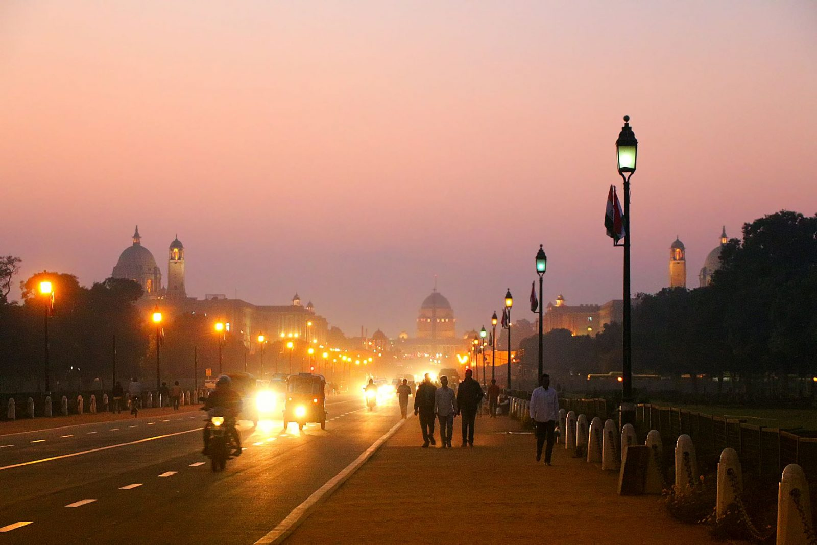 Image of downtown Delhi at night. USTDA technical assistance will support smart grid infrastructure in Delhi, India.