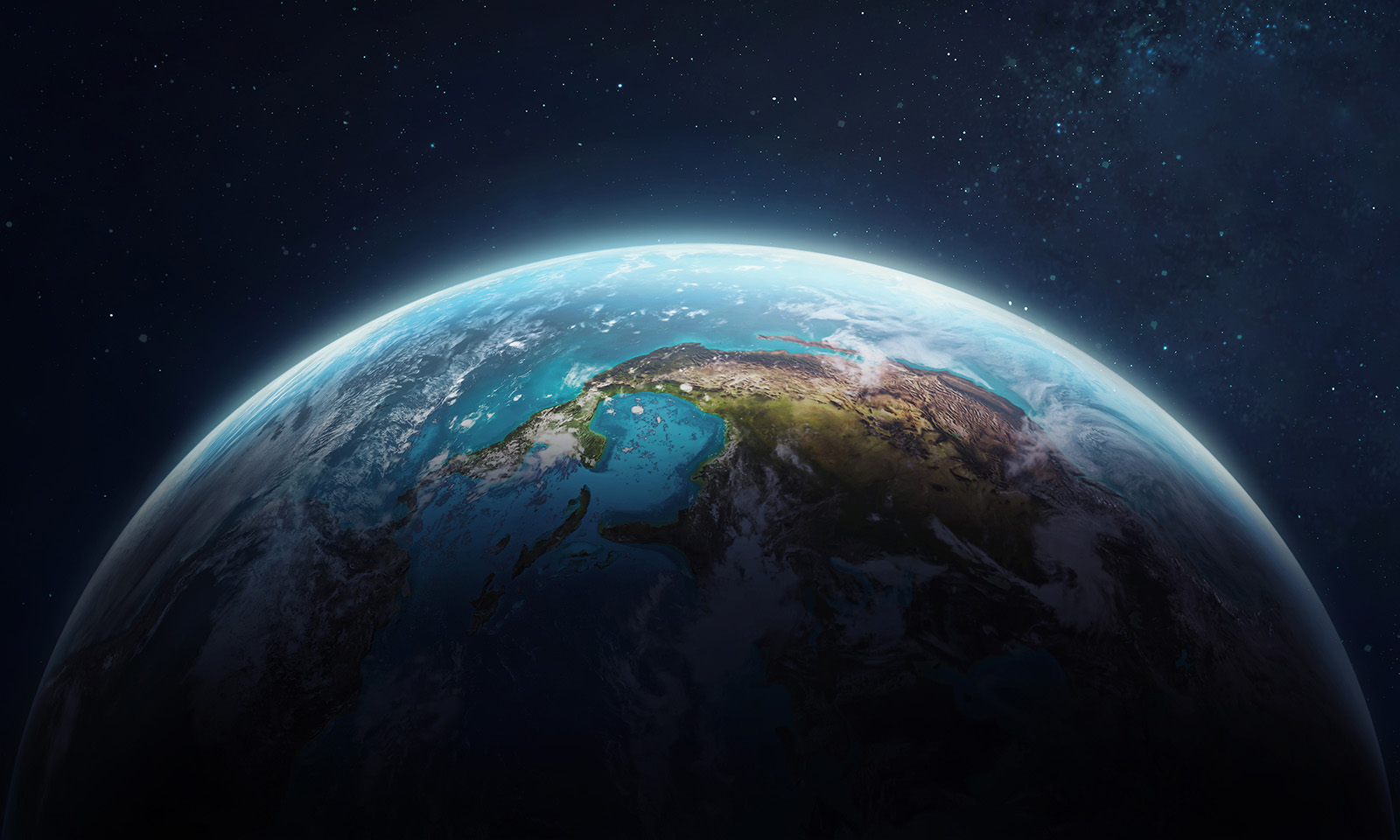 Image of the earth from outer space