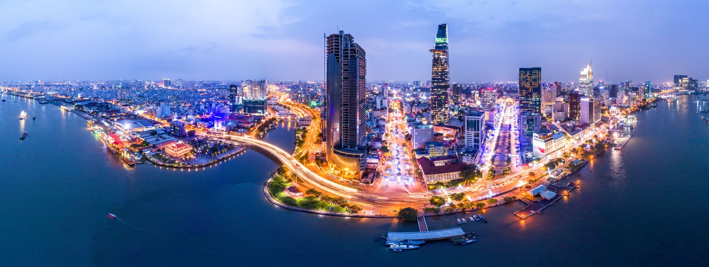 panoramic image of Ho Chi Minh City