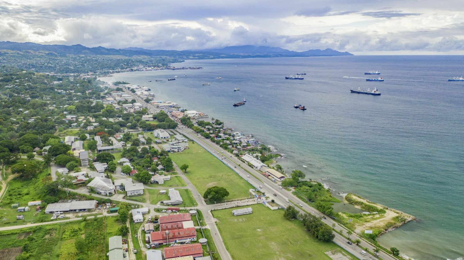 Photo of Honiara Harbor. USTDA is funding technical assistance to modernize the Solomon Islands' banking infrastructure.