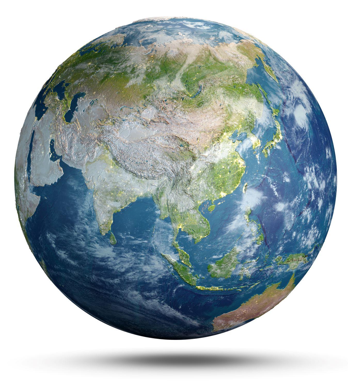 Satellite image of Indo-Pac region
