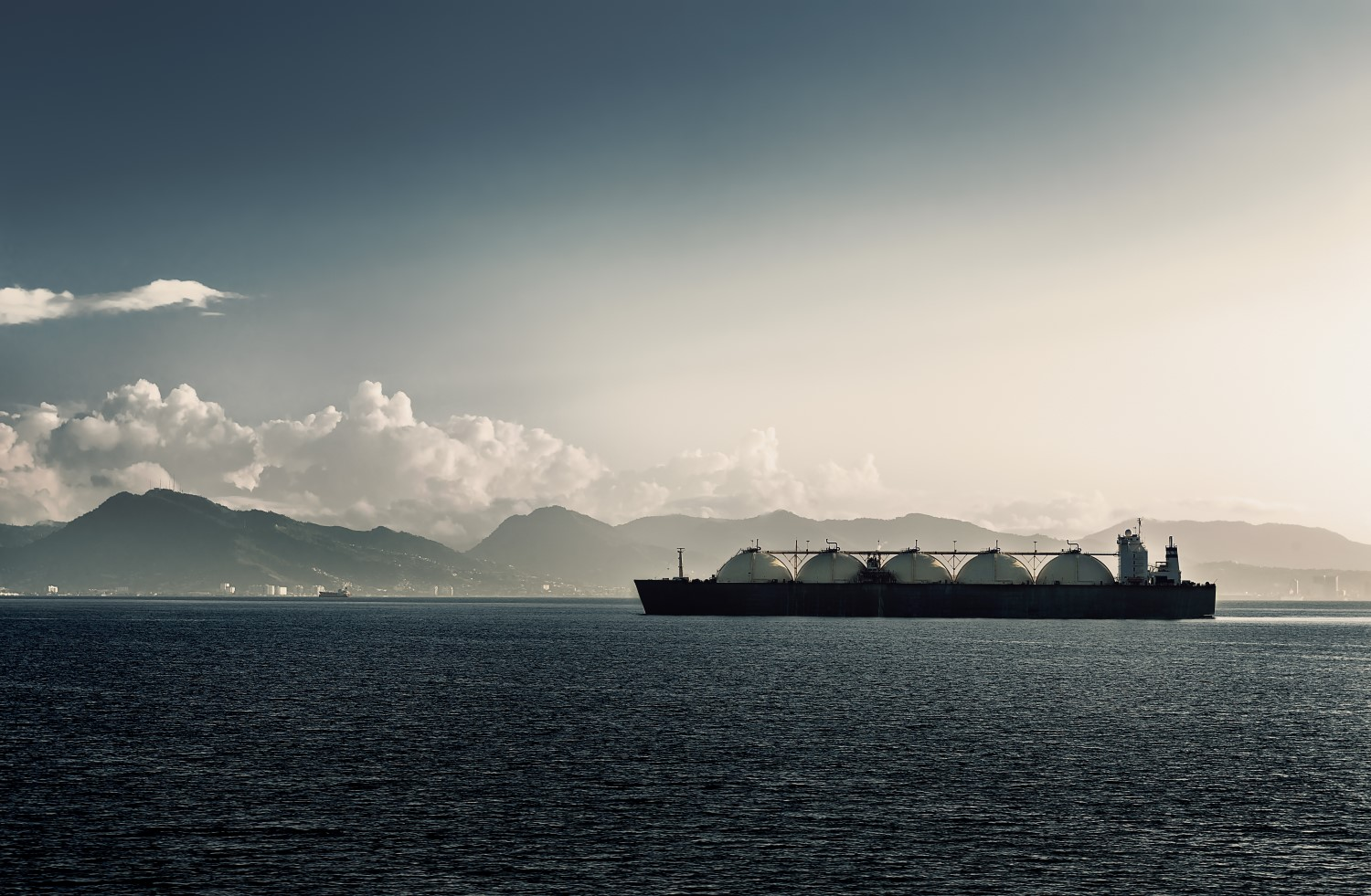 LNG Tanker in the Caribbean