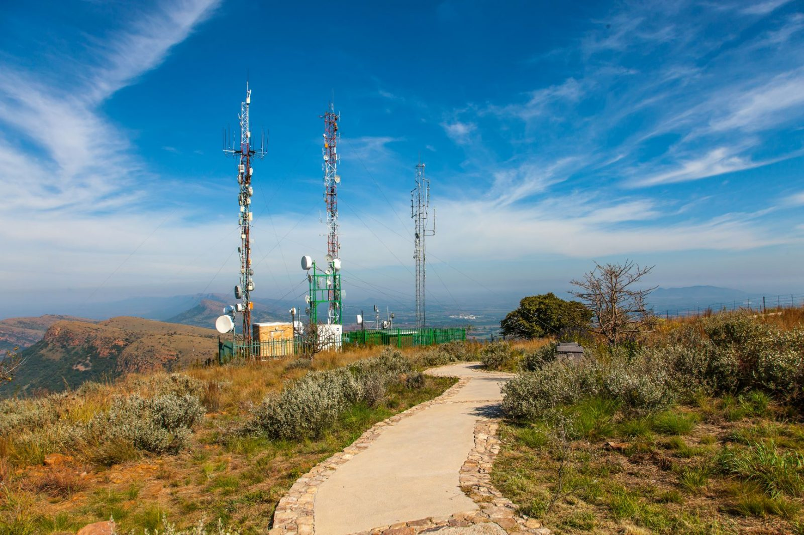 Cell Tower in South Africa. USTDA promotes ICT infrastructure in Africa and U.S. exports of goods and services.