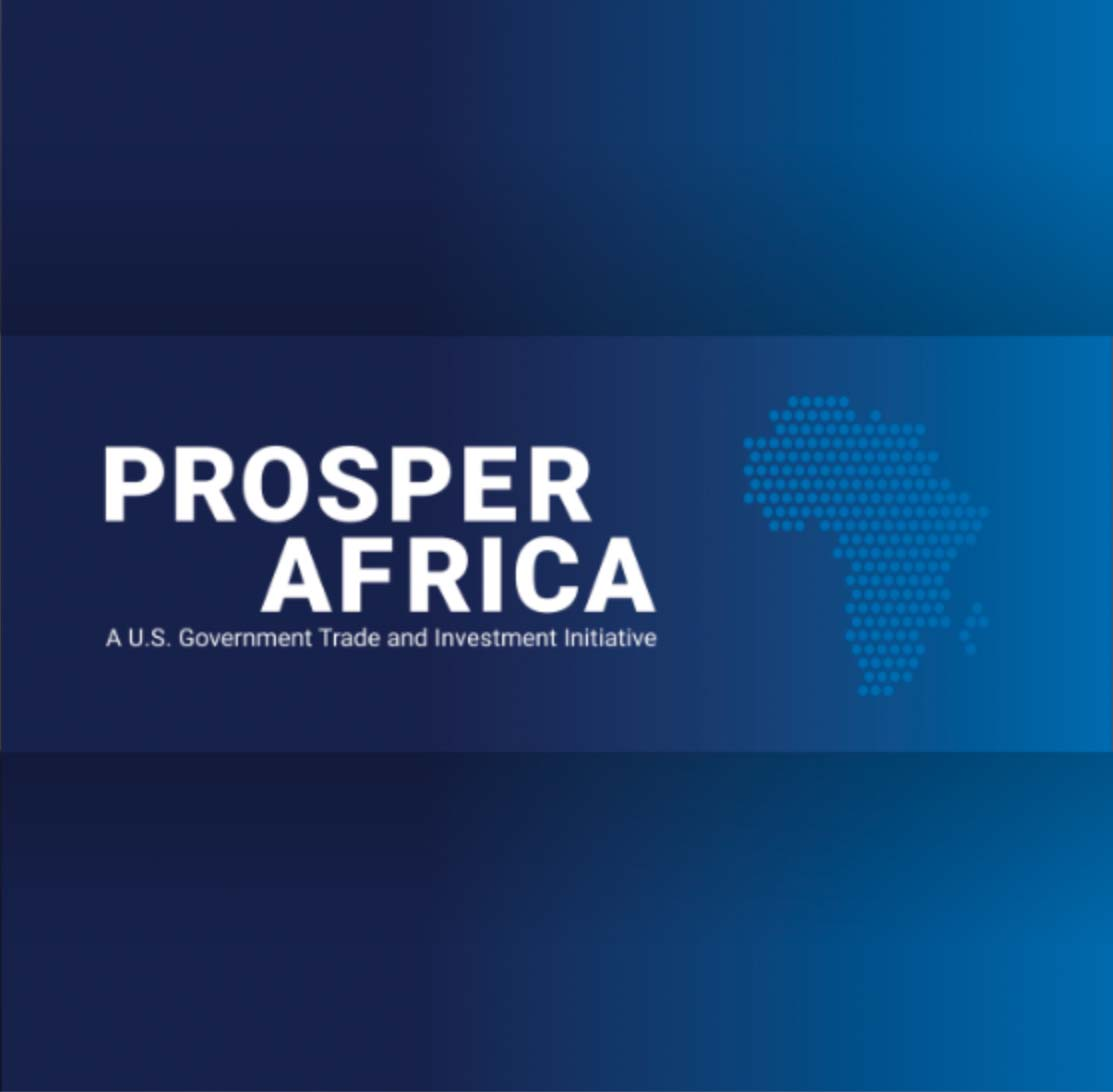 Prosper Africa logo and graphic