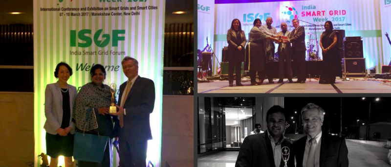 USTDA's South–Southeast Asia Regional Team receive the India Smart Grid Forum's President Award for Promotion of Smart Grids in India