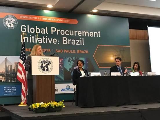 Andrea Lupo, USTDA's Director for Global Programs opens the GPI workshop