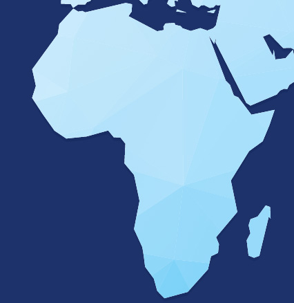 A stylized map graphic representing USTDA's Sub-Saharan Africa Region.